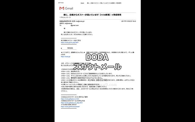 dodaのオファーメール